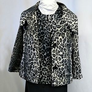 Rafaella Jacket and Sleeveless Top Leopard Print